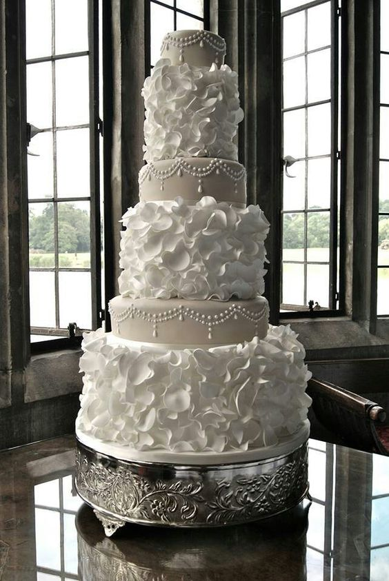 Traditional six tiered cake
